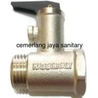 Harga safety valve water heater klep air masuk pemanas listrik rinnai | Hargalu.com
