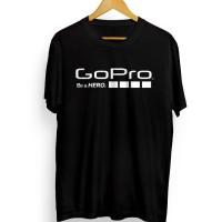 Limited Edition Kaos Gopro Hero Go Pro Xiaomi Desain 3 white hitam S M