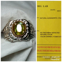ALEXANDRITE Chrysoberyl COLOR CHANGE # BATU PERMATA NATURAL