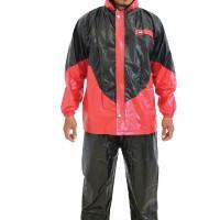 Jas Hujan Jaket Celana ONYX 716 Plevia Motor Cowok Pria Carbon PVC