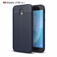 LEATHER AUTO FOCUS Samsung J3 J5 J7 Pro 2017 case back cover carbon hp