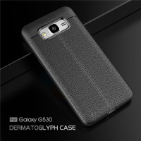 LEATHER AUTO FOCUS Samsung J7 2015 Core 2017 case cover casing carbon