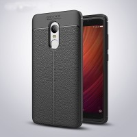LEATHER AUTO FOCUS Xiaomi Redmi Note 4 4X case cover casing hp carbon