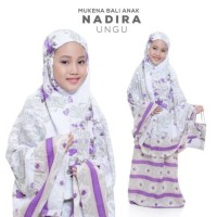 Mukena Nadira Anak - Mukena Rayon Bali Nadira Untuk Anak Usia 7-8 thn