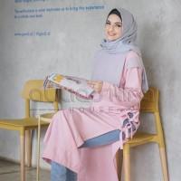 BAJU CASUAL WANITA MODERN TERBARU 2018 AULIA HOUSE MODEL KAZUMI PINK