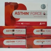(Sale) Asthin Force 6 mg | Astaxanthin kapsul isi 18's