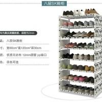 SANDAL MURAH Rak sepatu sandal import 8 susun/ Lemari unik sepatu