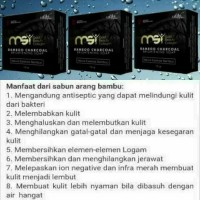 MSI SABUN ARANG BAMBOO ( CHARCOAL SOAP)