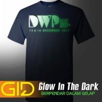 Baru Kaos DWP 2017 Glow In The Dark GID Biru Dongker Distro Djakarta