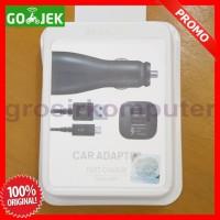 Charger Mobil Samsung Fast Charging 2 usb ORI 100% Black