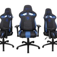 Sades Sirius Ergonomic Leather Gaming Chair/Kursi Gaming Blue-Black