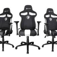 Sades Sirius Ergonomic Leather Gaming Chair/Kursi Gaming White-Black