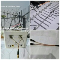 Antena Penguat Sinyal Yagi 12 EL Huawei Bolt XL Home B310S B310 B315 H