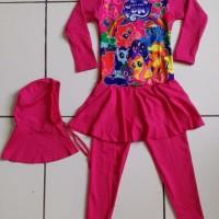 RNKD33 - Baju Renang Anak Muslim Little Pony Pink (XXL) MURAH