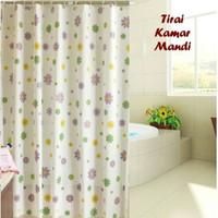 Curtain Gorden Flower/ Gorden Kamar Mandi Motif Bunga/ Tirai Shower
