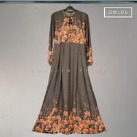 Gamis /Gamis syari/Gamis motif linen bubble adem nyaman/Dress hijab