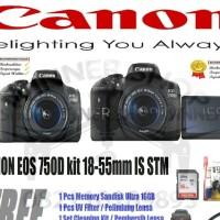 KAMERA CANON EOS 750D KIT 18-55 IS STM(PAKETAN)