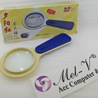 Kaca Pembesar / Magnifier / Magnifying Glass Lurus + Lampu Led LJ-009