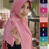 Hijab Instan Serut Jokowi / Jilbab Serut / Kerudung Serut Polos Murah