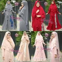 Harga zahira syari by bungas gamis dress hijabers branded modis mewah | Pembandingharga.com