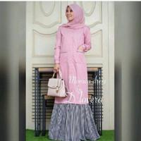Harga monika dress i baju kerja model baru tunik muslim hijab | Pembandingharga.com