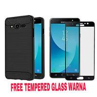 iPhone 8 Plus Case Slim Fit Carbon Plus Tempered glass Warna