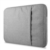 "Tas Laptop Nylon Sleeve Case For MacBook 14""inch - Abu abu"