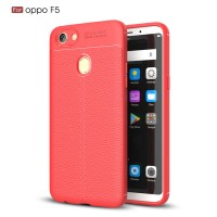 Oppo F5 Youth Pro soft case cover casing hp carbon LEATHER AUTO FOCUS