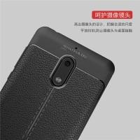 Nokia 3 5 6 case back cover casing hp kulit carbon LEATHER AUTO FOCUS
