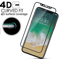 iPhone X screen guard anti gores hp original NUGLAS TEMPERED GLASS 4D