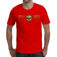 T Shirt Kaos Band Musik GUNS N ROSES Art 8 Warna Merah