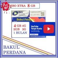 Kartu Perdana Internet XL Combo XTRA 8 GB + KUOTA YOUTUBE UNLIMITED 4G