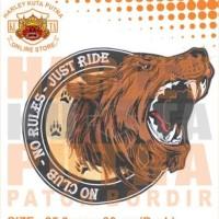 Jaket Boomber Serigala Sweater Hoodie Patch Bordir Harley Davidson