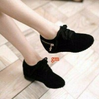 FLAT SHOES SNEAKERS FLAT BOOTS MOZZA HITAM RN01