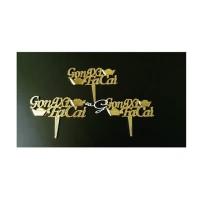 Tulisan Gong Xi Fa Cai Lebar 6 cm (1 set isi 6 pieces)