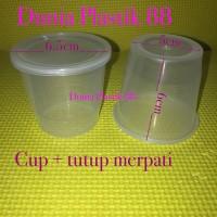 Harga harga pc cup tutup gelas plastik pudding selai rujak kecil | antitipu.com