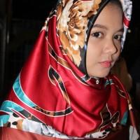 [PROMO] Hijab Motif / Krudung Satin / Hijab Lamiz / Jilbab Segiempat