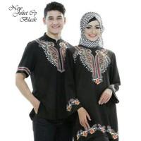 Unik Juliet Cp Black AK baju muslim couple rayon bangkok hitam Limited