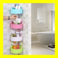 Rak Sudut Kamar Mandi Serbaguna Tempat Sabun Shampoo Keranjang Dapur