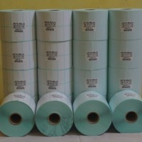 "LABEL BARCODE SEMICOATED 33 X 15 2 LINE GAP CORE 1"" ISI 5.000 PCS"