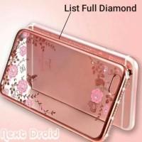 CASE HP CASING BUNGA LIST FULL DIAMOND OPPO F1S SOFT COVER FLOWERS