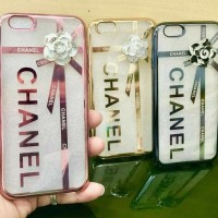 CASE HP CASING OPPO F3 A77 ELECTROPLATING CHANEL FLOWER SOFT T BACK