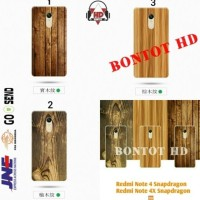 CASE CASING HP XIAOMI REDMI NOTE 4 4X SNAPDRAGON WOOD SOFT MOTIF KAYU