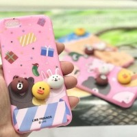 CASING CASE HP SAMSUNG J2 PRIME CUTE PINK 3D SOFT BACK COVER