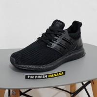 2db447c44eab8 Sepatu Adidas Ultra Boost Flyknit Ultraboost 3.0 Full All Triple Black