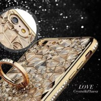 CASE CASING HP OPPO NEO 7 A1603 LOVE CRYSTAL FLOWER LIST DIAMOND BUNGA