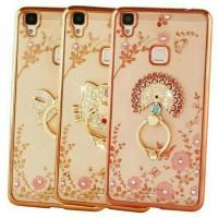 CASE HP CASING BUNGA + RING VIVO V3 MAX FLOWERS DIAMOND SOFT