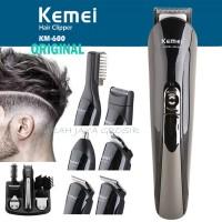Kemei KM 600 Alat cukur rambut 6 IN 1 Multiclipper and shaver komplit