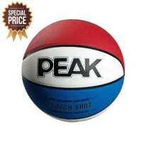 Bola Basket PEAK Clutch Shot Basketball - Blue Red
