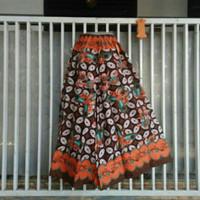 Celana kulot cutbrey batik motif kawung